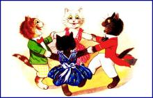 Ring around the Rosy! by Louis Wain