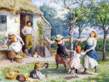Ring around the Rosy! by Myles Birket Foster